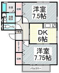 エスポワール富竹 C[2階]の間取り