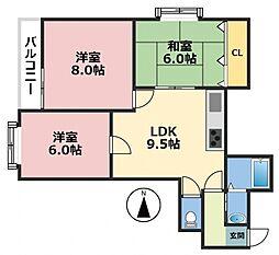 クイーンライフIMAZU[6階]の間取り