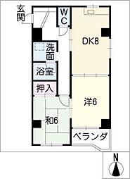 ハイムエクセル[2階]の間取り
