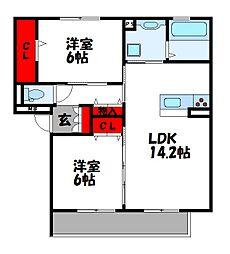 D-roomS・K B棟[3階]の間取り