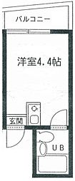 東京都北区十条仲原2丁目の賃貸マンションの間取り