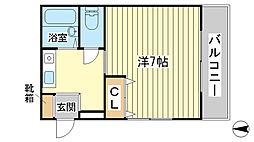 KAGA HOUSE[203号室]の間取り