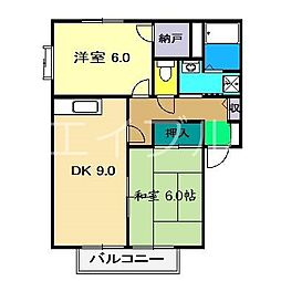 ラピスハイネスB棟[1階]の間取り