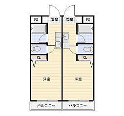 SKマンション[305号室]の間取り
