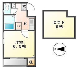 セジュール東別院[1階]の間取り