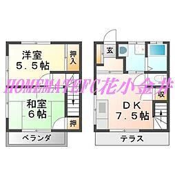 [テラスハウス] 東京都西東京市柳沢5丁目 の賃貸【/】の間取り