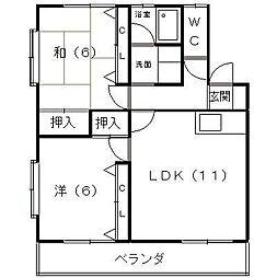 ビックストーンA・B[1階]の間取り