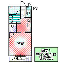 H・K・24 1階ワンルームの間取り