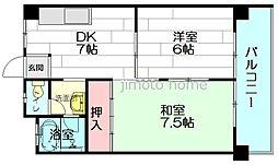 メゾン豊津[2階]の間取り