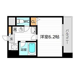 エスティライフ梅田北[6階]の間取り