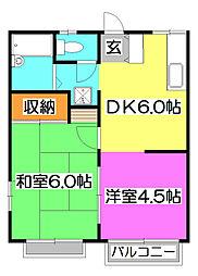 コ−ト東所沢[2階]の間取り