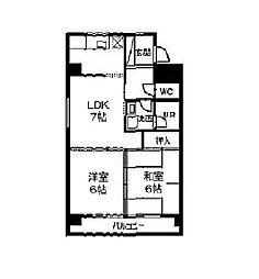愛知県名古屋市昭和区広路本町3丁目の賃貸マンションの間取り