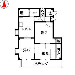 コンコードHAYASHI[3階]の間取り