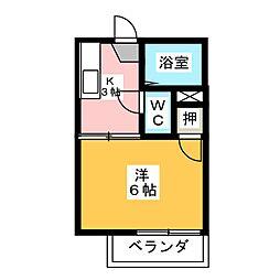 WESTみずほ[2階]の間取り
