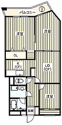 ルーデンスMISATO[3階]の間取り