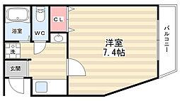 ハーモニー南円町[2階]の間取り