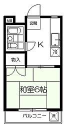 第二中川サンコーポ[207号室]の間取り