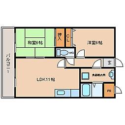 ラディエ南武庫之荘[3階]の間取り