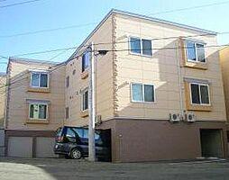北海道札幌市清田区真栄一条2丁目の賃貸アパートの外観
