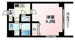 Osaka Metro御堂筋線 西中島南方駅 徒歩3分の賃貸マンション 5階1Kの間取り