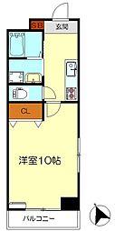 FLATHILL広国際通り -エイトホーム- 3階1Kの間取り