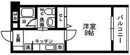 コンチェルト氷川台[201号室]の間取り