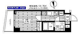 東京都港区高輪2丁目の賃貸マンションの間取り