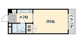 アビヨンKAB1[406号室]の間取り
