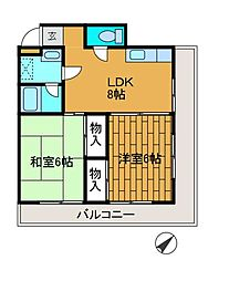 文京ハイプラザ[2階]の間取り