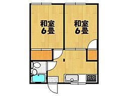 中嶋アパート[201号室]の間取り