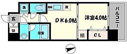Osaka Metro長堀鶴見緑地線 蒲生四丁目駅 徒歩3分の賃貸マンション 8階1DKの間取り