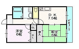 城東グリーンマンション[11階]の間取り