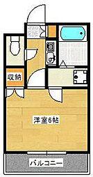 東京都江戸川区上篠崎4の賃貸マンションの間取り