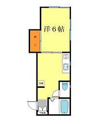 コゼットハイツ[105号室]の間取り