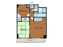 スクエアK3[4階]の間取り