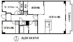 オルテンシア神戸[6階]の間取り