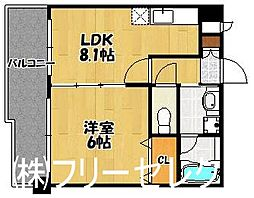 カマラード吉塚[4階]の間取り