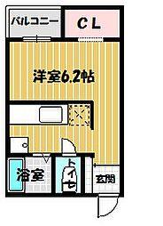 reve大津朝倉[2階]の間取り