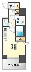 レジディア江坂II[15階]の間取り