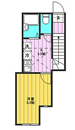 セレクトハウス[201号室]の間取り
