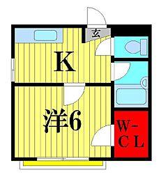 キワパインプラザ[1階]の間取り