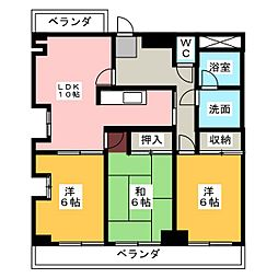 ウィンドム[3階]の間取り