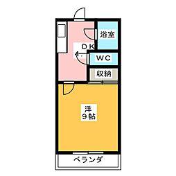 ワイズフラッツNC[3階]の間取り