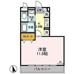 長野県長野市三輪5丁目の賃貸アパートの間取り