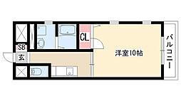 愛知県名古屋市天白区元八事4丁目の賃貸マンションの間取り