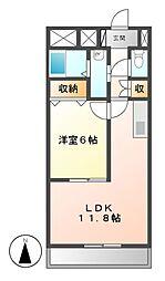 愛知県名古屋市港区油屋町2の賃貸マンションの間取り