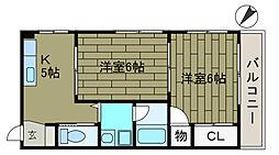 南台ハイム[3階]の間取り