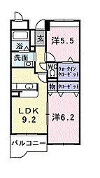 泉北高速鉄道 泉ヶ丘駅 徒歩13分の賃貸マンション 3階2LDKの間取り