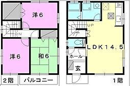 [一戸建] 愛媛県松山市福音寺町 の賃貸【/】の間取り