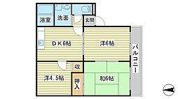 兵庫県たつの市揖保川町黍田の賃貸アパートの間取り